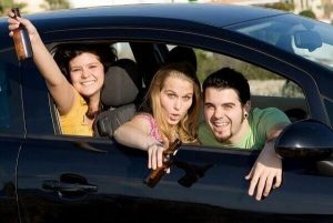 passengers drinking while you drive